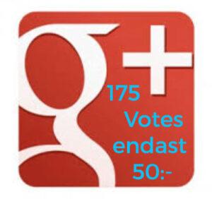 Google+ votes