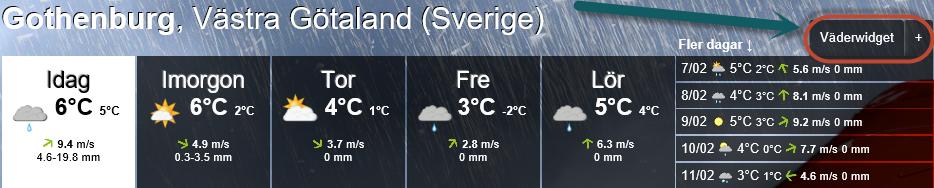 Väder widget