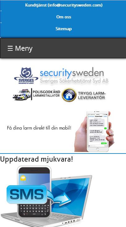 Mobilvänlig hemsida